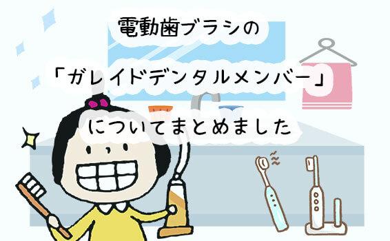 電動歯ブラシの「ガレイドデンタルメンバー」についてまとめました